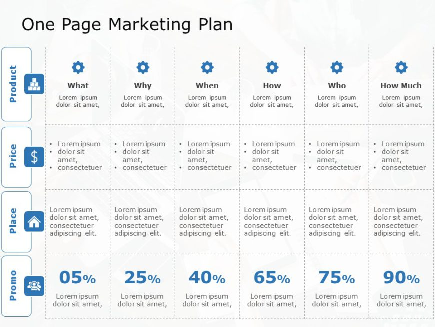 One Page Marketing Plan 05