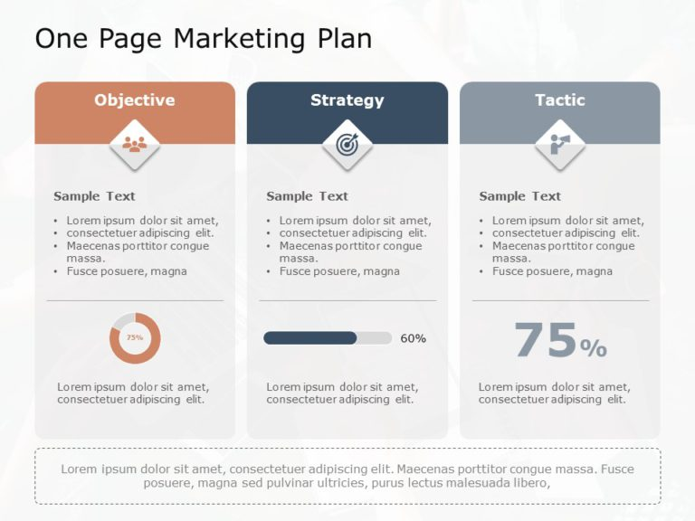 One Page Marketing Plan 06