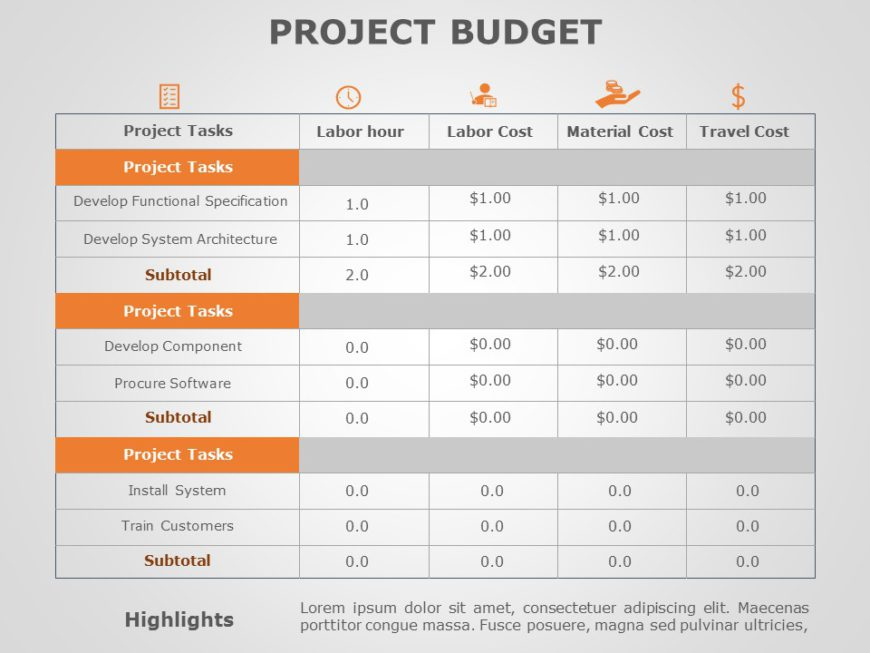 Project Budget 01