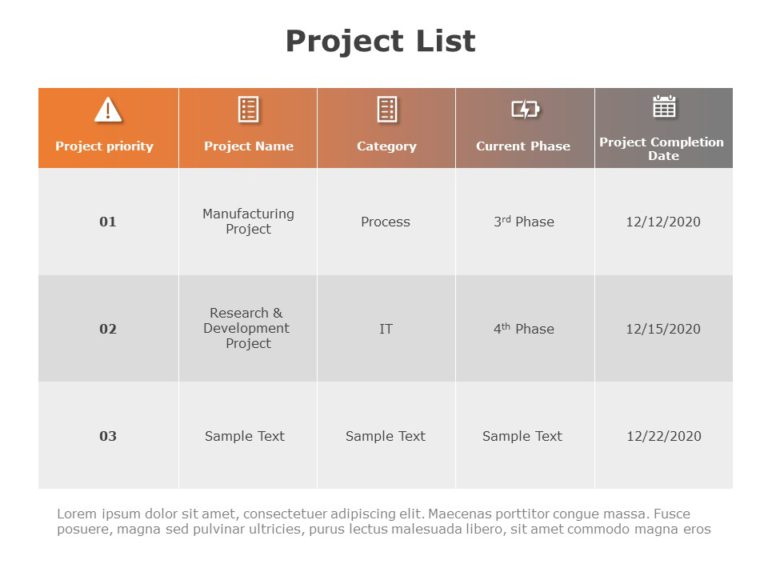 Project List 03