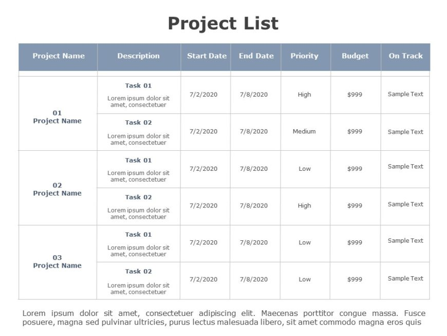 Project List 04