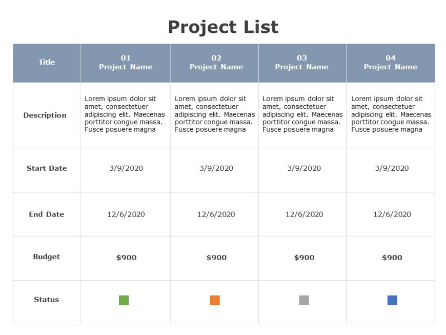 Project List 05