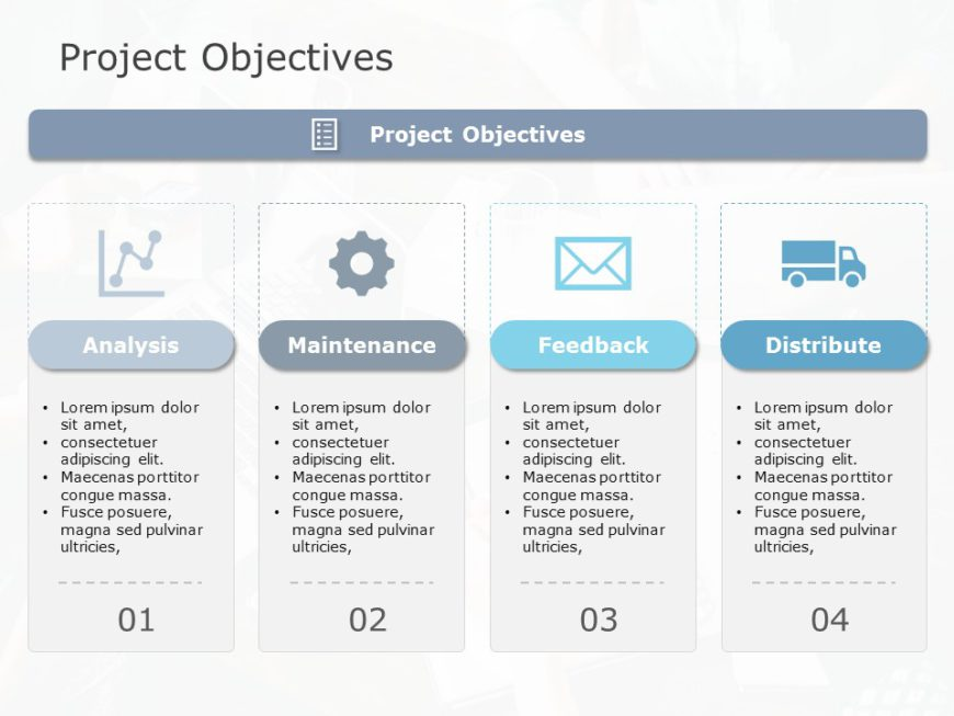 Project Objectives 01