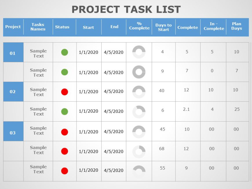 Project Task List 01