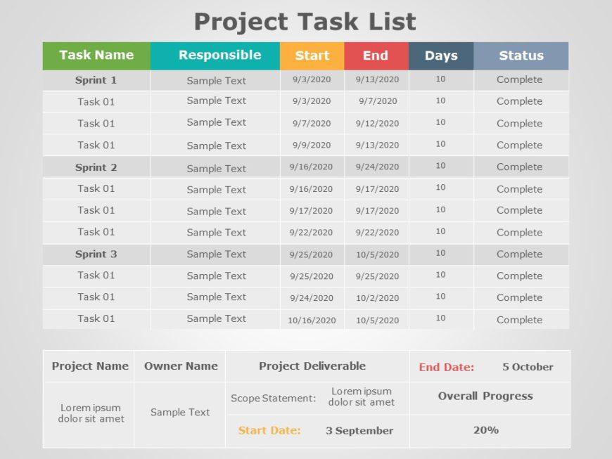 Project Task List 02