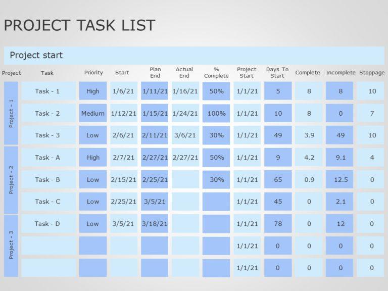 Project Task List 04