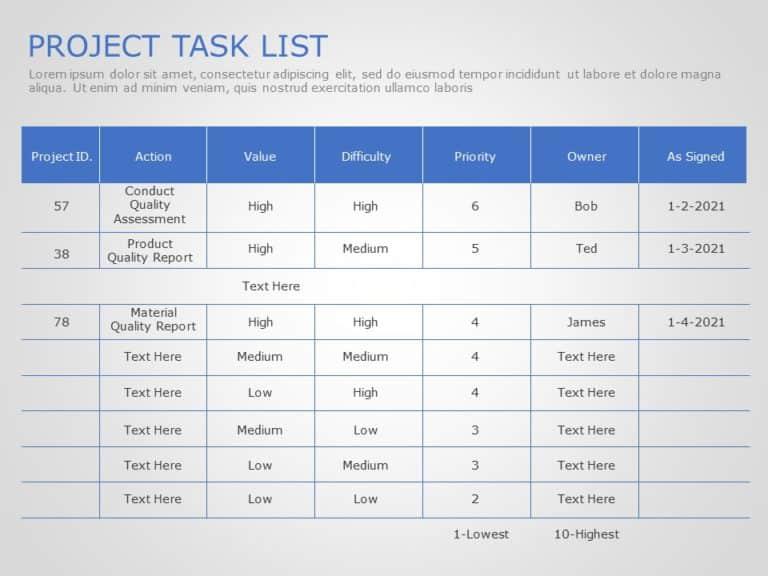 Project Task List 05