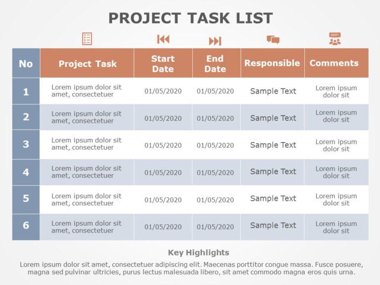 Project Task List 09