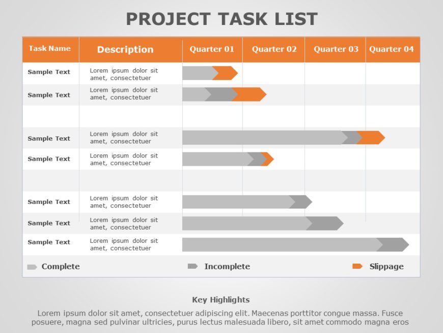 Project Task List 10