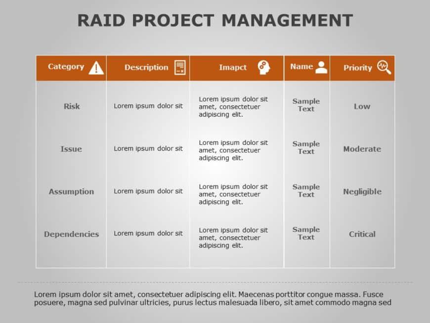 RAID Project Management 05