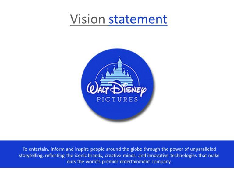Vision Statement Disney
