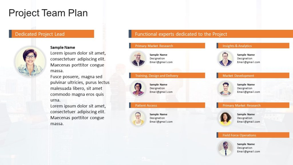 Project Team Plan Template