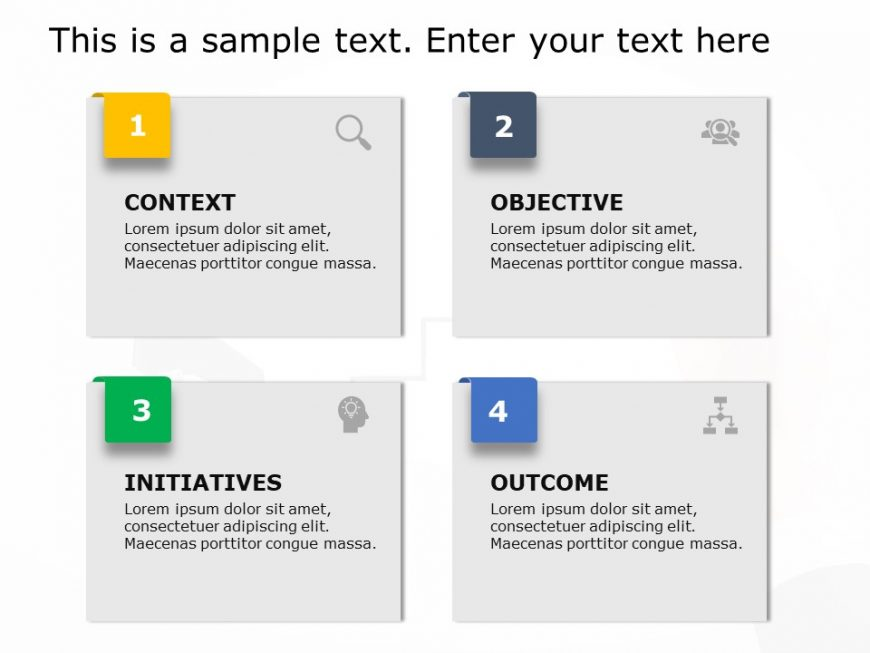 Four Text Boxes PowerPoint Template