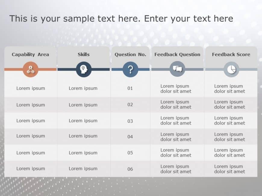 Questionnaire powerpoint template