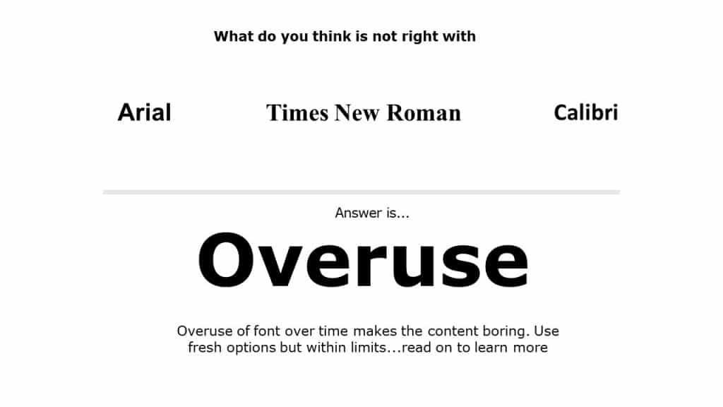 Presentation Fonts best practices
