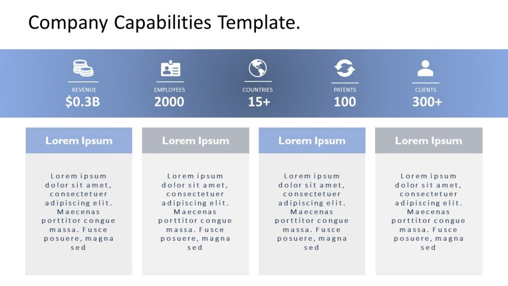 Company Capabilities Template