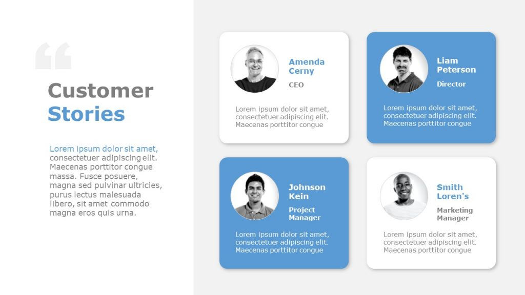 Customer Testimonials Template