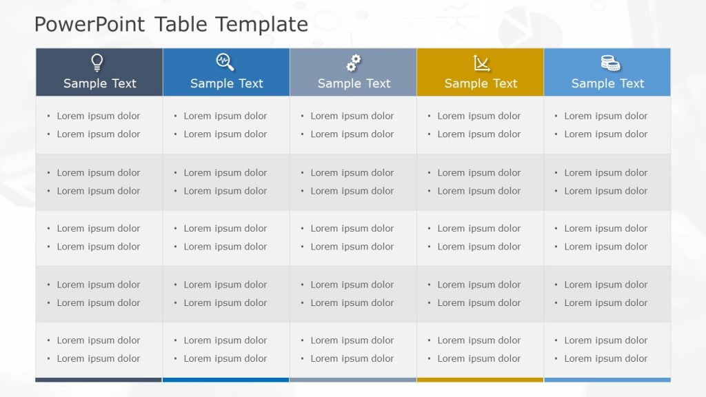 Free PowerPoint Table Template