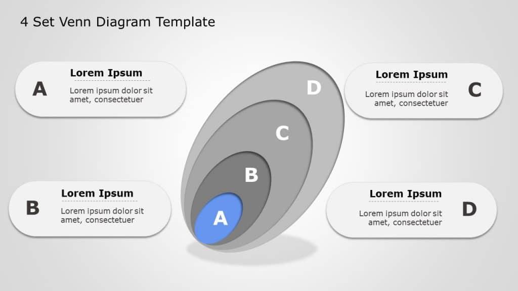 Four Set Venn Diagram Template