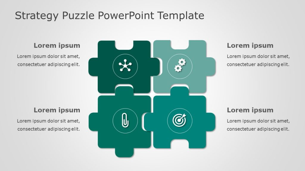 Strategy Puzzle Free PTT Template
