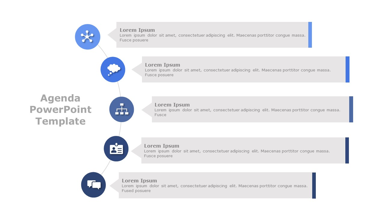 PowerPoint Agenda Slide