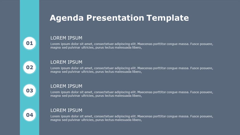 Free Agenda PowerPoint Template