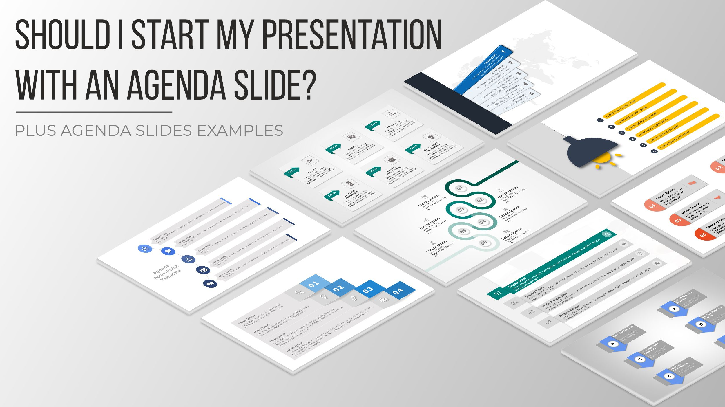 Should I start my presentation with an agenda slide? Plus agenda slides examples