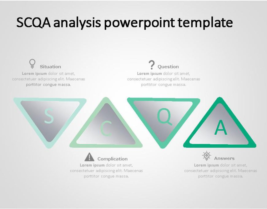 SCQA PowerPoint Template for business use ,3j