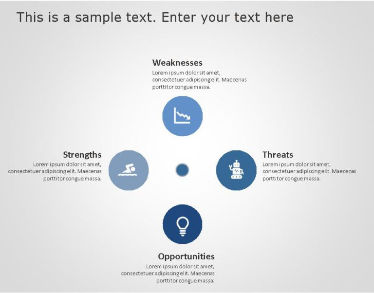 SWOT PowerPoint Template for business use -1h