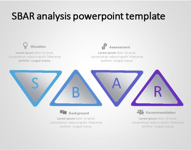 SBAR PowerPoint Template for business use ,4l