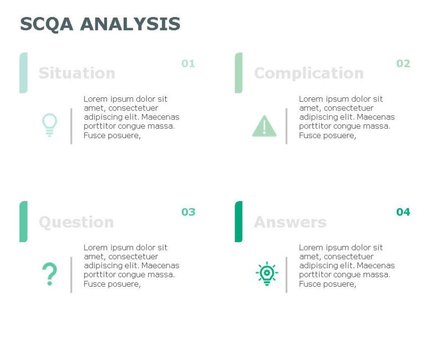 SCQA PowerPoint Template for business use ,9j
