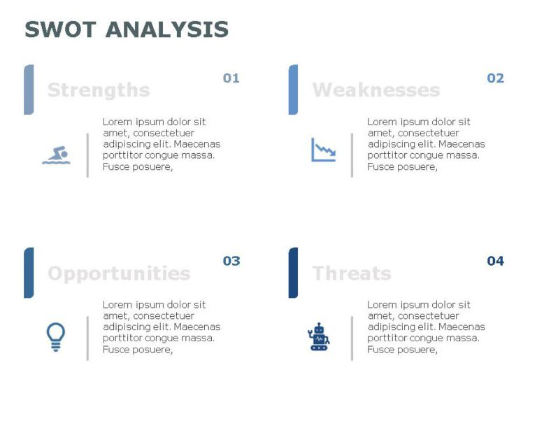 SWOT PowerPoint Template for business use -3h
