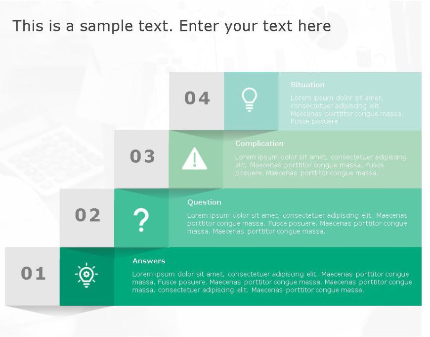 SCQA PowerPoint Template for business use ,11j