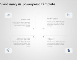 SWOT PowerPoint Template for business use -5h