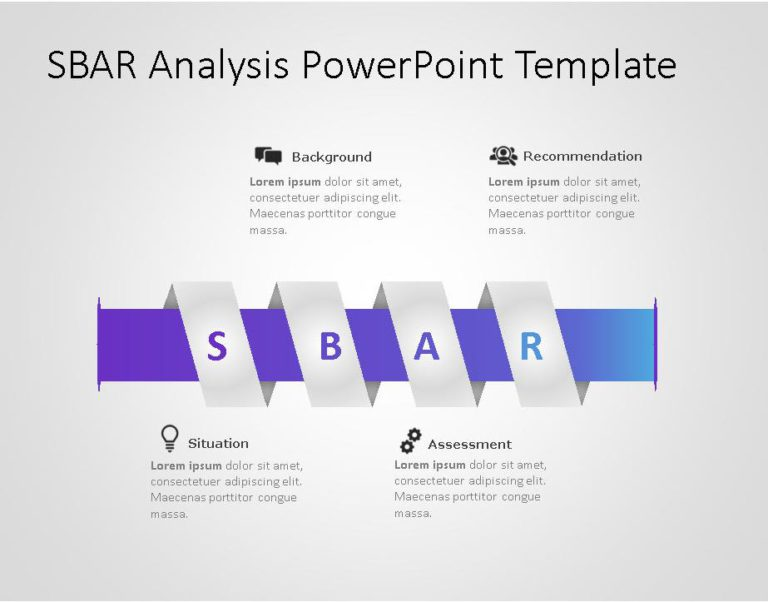 SBAR PowerPoint Template for business use ,13l