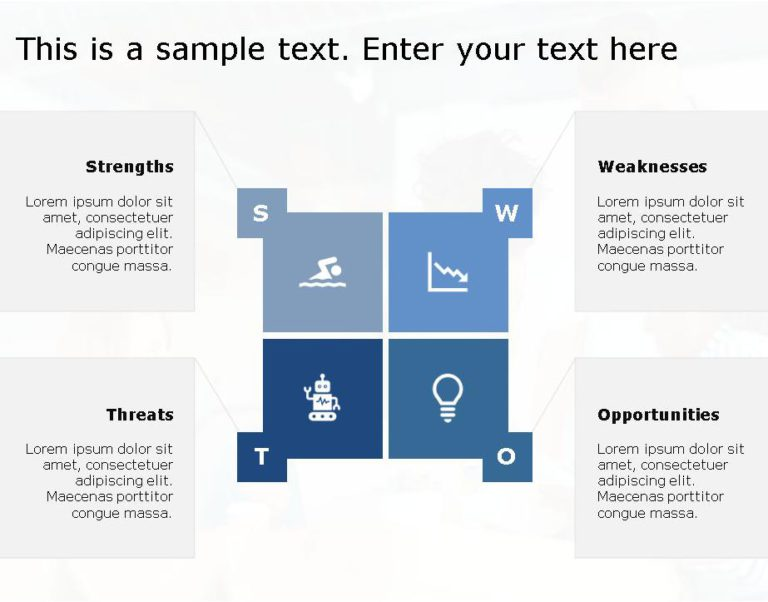 SWOT PowerPoint Template for business use -12h