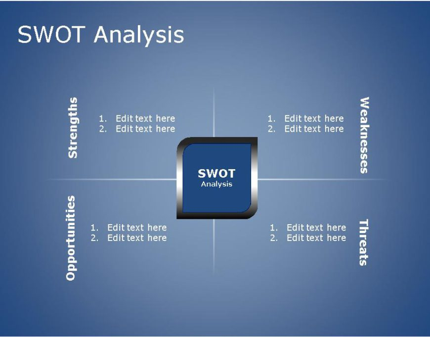 SWOT PowerPoint Template for business use -13h