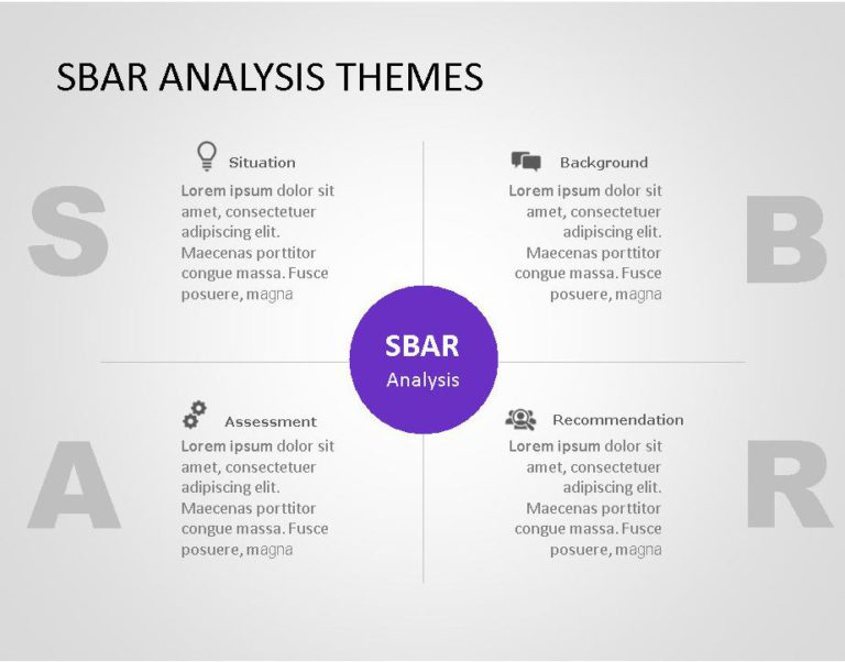 SBAR PowerPoint Template for business use ,21l
