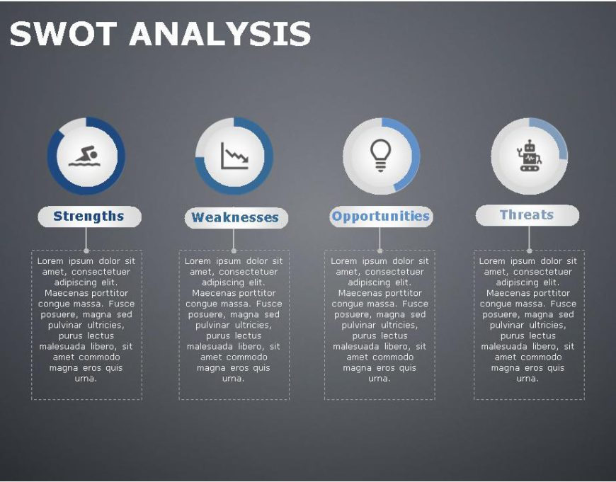 SWOT PowerPoint Template for business use -14h