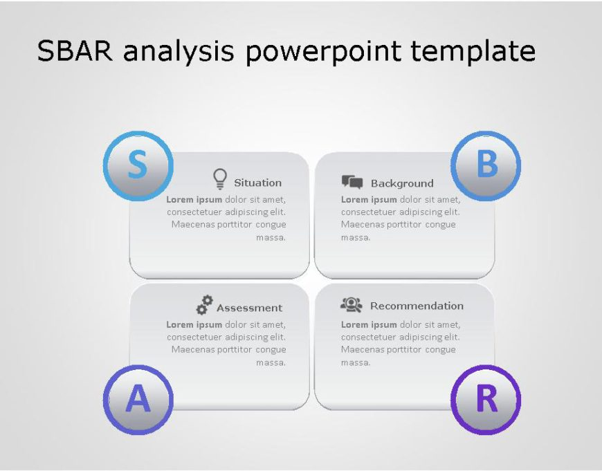 SBAR PowerPoint Template for business use ,23l