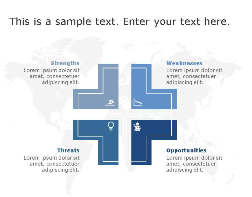 SWOT PowerPoint Template for business use -18h