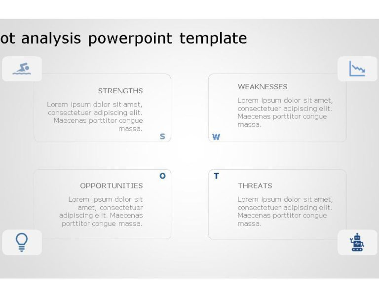 SWOT PowerPoint Template for business use 22h