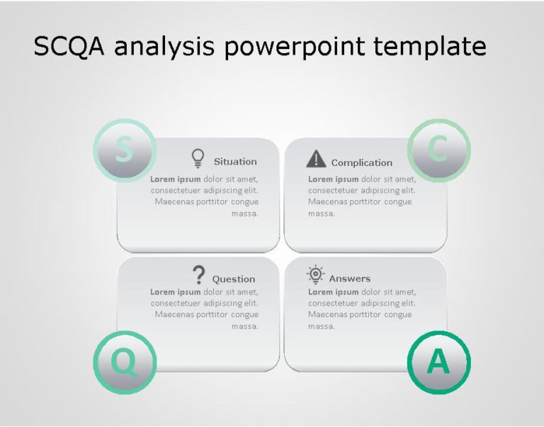 SCQA PowerPoint Template for business use ,25j