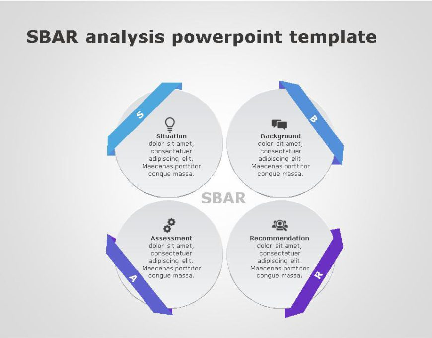 SBAR PowerPoint Template for business use ,27l