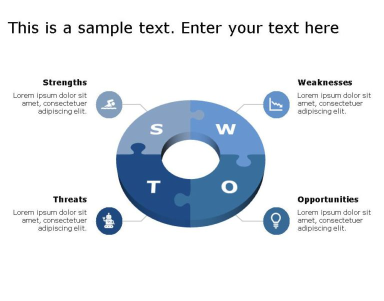 SWOT PowerPoint Template for business use 25h