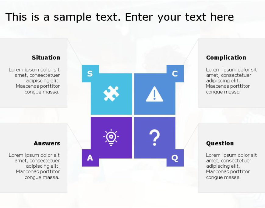 SCQA PowerPoint Template for business use ,28j