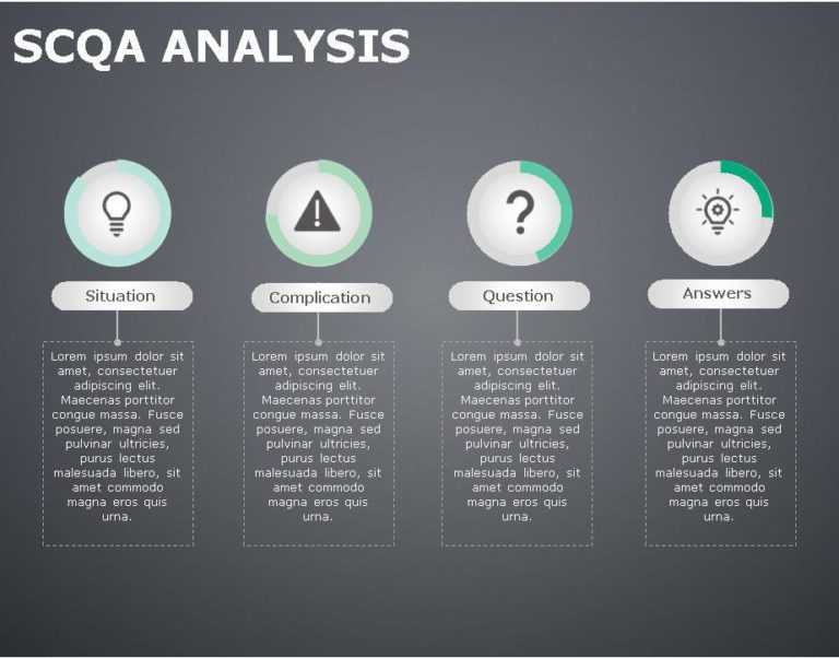 SCQA PowerPoint Template for business use ,29j