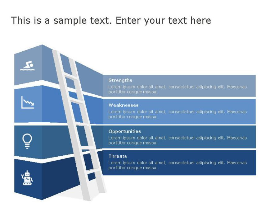 SWOT PowerPoint Template for business use -27h