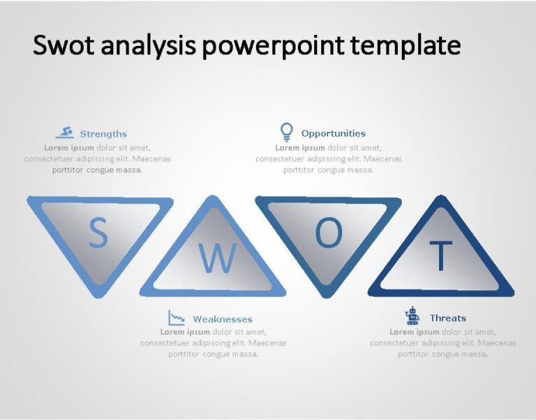 SWOT PowerPoint Template for business use 30h