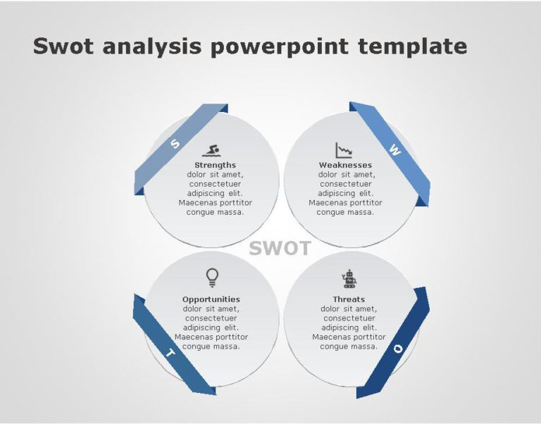 SWOT PowerPoint Template for business use 31h